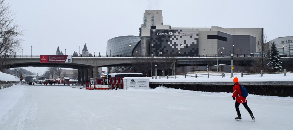 Shaw centre overlooking the canal in Ottawa