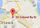 Map of 55 Colonel By Dr, Ottawa